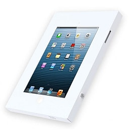 Frostycow WHITE Anti Theft Secure Enclosure Case Wall Mount Cabinet Apple iPad 2 3 4 Air & Air 2 Tablet