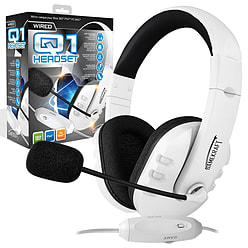 Gamekraft Q1 Stereo Headset White/Black for Xbox 360 PS4 PC PS4