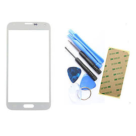 Frostycow Glass Front Cover Screen Replacement for Samsung Galaxy S3 MINI GT-I8191- WHITE Mobile phones
