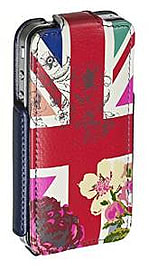 Etui iPhone 4S / 4, Accessorize clapet flip motif drapeau fleurs Mobile phones