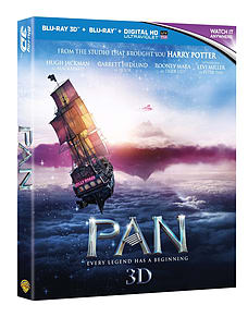 Pan (Blu-ray 3D) Hugh Jackman, Peter Pan Blu-ray