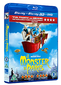 A Monster In Paris 3D (3D/2D Blu-ray & DVD) (C-U) Blu-ray