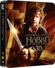 The Hobbit Desolation Of Smaug Extended Ed (3D + 2D Blu-Ray Steelbook) (C-12) Blu-ray