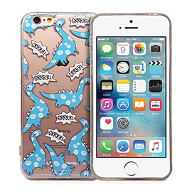 Frostycow 'Dinosaur' Retro Goggle Eye Cartoon Case Cover Protector For Apple iPhone 5/5S Mobile phones