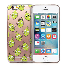 Frostycow 'Pear' Retro Goggle Eye Cartoon Case Cover Protector For Apple iPhone 5/5S Mobile phones
