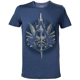 'Assassin's Creed Syndicate Brotherhood Crest Logo Men's T-shirt, Small, Blue' Clothing