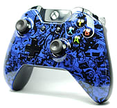 Blue Skulls Scrawl Xbox One Custom Controller screen shot 1