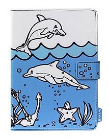 TechAir Universal 7 Inch Tablet Doodle Case - Dolphins Tablet