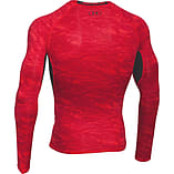 Under Armour HeatGear Armour Printed LS Baselayer Shirt Red/Black - XXL screen shot 1