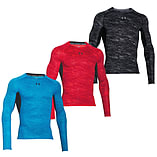 Under Armour HeatGear Armour Printed LS Baselayer Shirt Red/Black - XXL screen shot 2