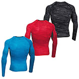 Under Armour HeatGear Armour Printed LS Baselayer Shirt Red/Black - XXL screen shot 3