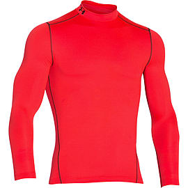 Under Armour ColdGear Armour Compression Mock Baselayer Red - XL Clothing