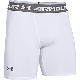 Under Armour HeatGear Armour Mens Compression Baselayer Short White - XXL Clothing