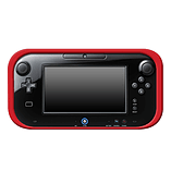 Wii U RED SILICONE SOFT COVER RUBBER GEL SKIN CASE FOR NINTENDO Wii U screen shot 1