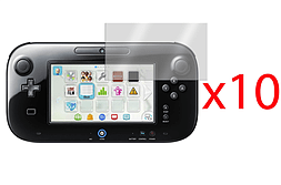 10 x LCD SCREEN PROTECTOR COVER GUARD & CLOTH FOR NINTENDO Wii U Wii U