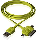 Outdoor Tech Calamari 3 in 1 Charge Cable-green screen shot 3
