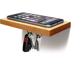ilovehandles Plank Magnetic Floating Shelf for Phone and Keys (Natural) Mobile phones