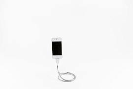 Une Bobine Gooseneck Flexible Stand & Charger for iPhone 5 Lightning Mobile phones