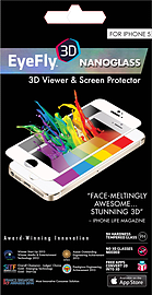 Eyefly 3D Nano Glass for iPhone 5 - White Screen Protector Mobile phones