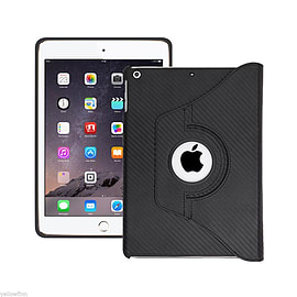 Everything Tablet Case Cover 360 Degree Stand for iPad Air 2nd Gen Black Carbon Tablet