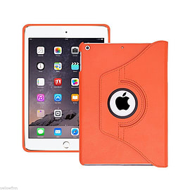 Everything Tablet Case Cover 360 Degree Stand for iPad Air 2 Sleep Wake - Orange Tablet