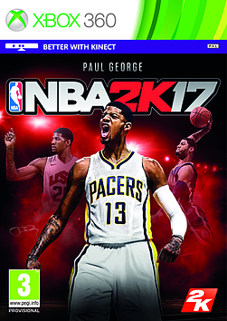 NBA 2K17 Xbox 360 Cover Art