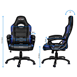 Nitro Concepts C80 Comfort Series Gaming Chair - Black/Blue screen shot 1