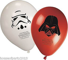 Star Wars Latex Balloons Childrens Birthdays Parties Decorations Party Supplies