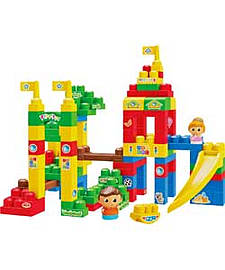 Mega Bloks First Builders Deluxe Playground Building Bag. Blocks and Bricks