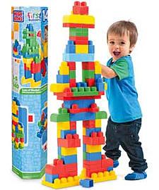 Mega Bloks 140 Piece Maxi Tube. Blocks and Bricks