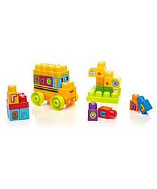Megabloks First Builders ABC Spell School Bus Blocks and Bricks