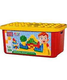 Mega Bloks First Builders Big Building Bloks 220 Piece Tub. Blocks and Bricks