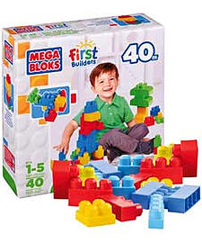 Mega Bloks First Builders Maxi Bloks - 40 Piece Value Bag. Blocks and Bricks