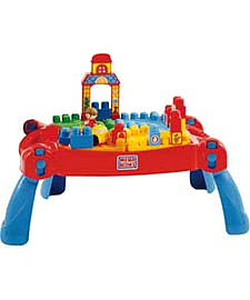 Mega Bloks First Builders Build 'N' Learn Table. Blocks and Bricks