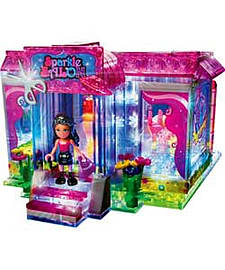 Lite Brix Lite Up Sports Car And Sparkle Salon Playset. Blocks and Bricks