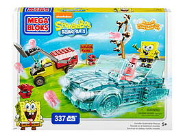 Mega Bloks Spongebob Squarepants Invisible Boat Race. Blocks and Bricks
