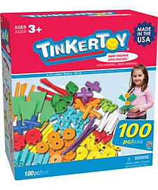 KNEX Tinkertoy 100 Pc Essentials Value Set. Blocks and Bricks