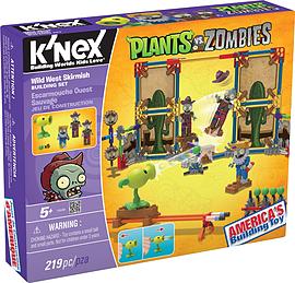 KNEX Plants Vs Zombies Wild West Skirmish. Blocks and Bricks