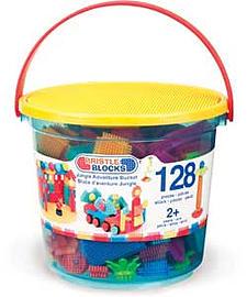 Bristle Blocks Jungle Adventure Storage Bucket - 128 Pieces. Blocks and Bricks