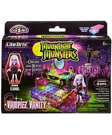 Lite Brix Moolight Monsters Vampire Vanity Playset. Blocks and Bricks