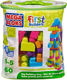 Mega Bloks First Builders Medium Trendy Bag. Blocks and Bricks