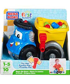Mega Bloks First Builders Steer Me Steve Dump Truck. Blocks and Bricks
