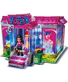 Girls' Lite Brix Liteup Sparkle Salon. Blocks and Bricks