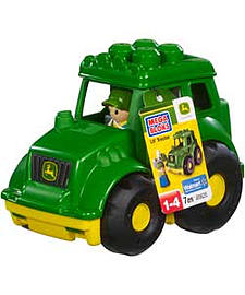 Mega Bloks Little Vehicle John Deere Tractor. Blocks and Bricks