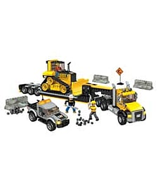 Mega Bloks Caterpillar Heavy-Duty Transporter. Blocks and Bricks