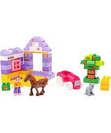 Mega Bloks First Builders - Pony Palace. Blocks and Bricks
