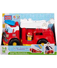 Mega Bloks First Builders Fire Truck Finn. Blocks and Bricks