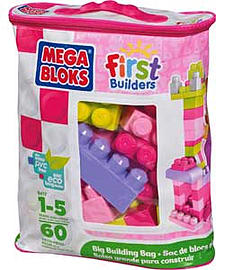 Mega Bloks First Builders Big Building Bag - Pink. Blocks and Bricks