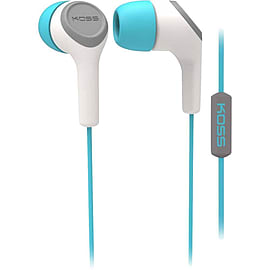 Koss - Keb15it In-ear Headset With Mic, Turqouise Multi Format and Universal