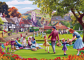 Picnic on the Green 1000 Pieces Gibsons Traditional Games